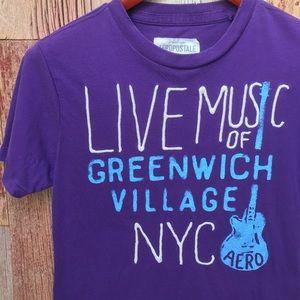 Aeropostale Greenwich Shirt Distressed S